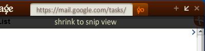 Snippage shrink